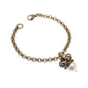 Crown and pearl bracelet