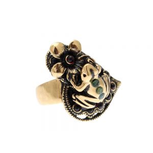 Frog and flower ring