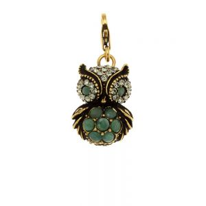 Emerald Owl Charms